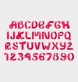 red ribbon script font vector image