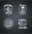 set of retro monocrome vintage logotypes vector image