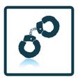 Sex handcuffs with fur icon vector image vector image