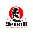 spartan fighter logo design vector image vector image