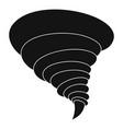 storm tornado icon simple style vector image vector image