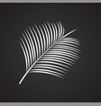 tropic leaf on black background for graphic and vector image