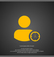 user icon simple sign vector image vector image