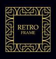 vintage decorative frame vector image vector image
