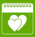wedding date day on calendar icon green vector image vector image