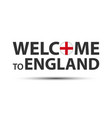 Welcome to england symbol with english flag