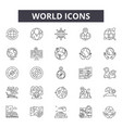 world line icons signs set linear vector image vector image