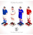 Football 03 People Isometric vector image