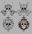 Viking Skull Mascot vector image