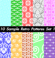10 Retro Patterns Textures Set 1 vector image vector image