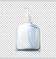 3d realistic transparent plastic bottle vector image