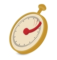 Analog stopwatch cartoon vector image vector image