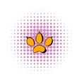 Animal paw icon comics style vector image vector image