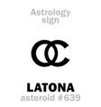 astrology asteroid latona leto vector image vector image