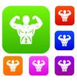 athletic man torso set collection vector image vector image