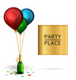 banner background for birthday celebration vector image