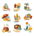 Beach And Summer Labels Set vector image vector image
