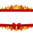 Border of autumn maples leaves decorated with a vector image vector image