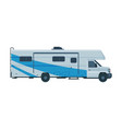 camper van mobile home for summer trip family vector image