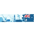 Cargo port Australia flag in gear vector image vector image
