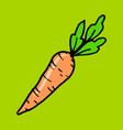 carrot cartoon doodle icon vector image