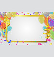 celebration happy birthday party banner gold foil vector image