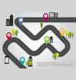 city location road map info graphic vector image vector image