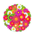 Color Flowers vector image vector image