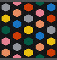 colorful seamless hexagonal pattern vector image vector image