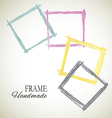 colorful set of frame vector image vector image