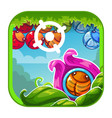cute cartoon bright app icon vector image vector image