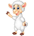Cute funny sheep waving hand isolated vector image vector image