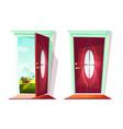 door house entrance vector image vector image
