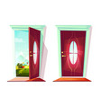 door of house entrance vector image vector image
