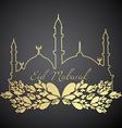 eid mubarak design vector image vector image