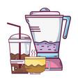 espresso coffee machine vector image
