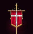 flag of denmark festive vertical banner wall vector image vector image