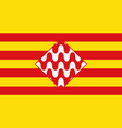 flag of girona is a province of spain vector image vector image