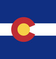 flag of the usa state of colorado vector image