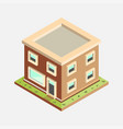flat 3d isometric house vector image
