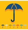 Flat design umbrella vector image