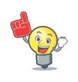 foam finger light bulb character cartoon vector image vector image