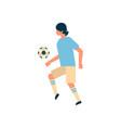 football player kick ball isolated sport vector image vector image