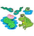 frog collection vector image vector image