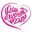 Heart Happy Valentines day Lettering text vector image vector image