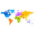 high detail political world map vector image