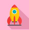 kid amusement rocket icon flat style vector image