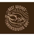 Label design template to Thanksgiving Day Black vector image vector image