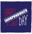 label Independence day vector image vector image