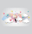 light bulb balloon on watercolor sky idea concept vector image vector image